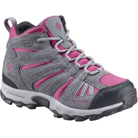 Columbia Youth North Plains Mid Waterproof Sko Børn grå/pink